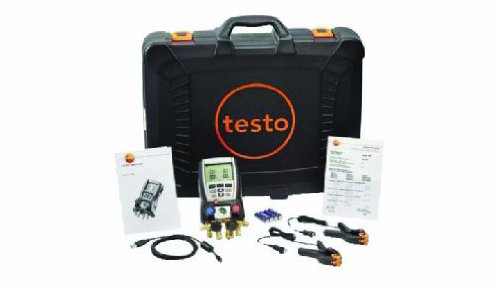 Price comparison product image Testo 0563 5703 Refrigeration System Analyzer Kit with 2 Clamp Probe, Case and USB Cable, -58 to 302 Degree F Range