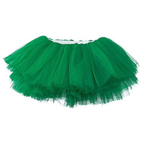 My Lello Little Girls 10-Layer Short Ballet Tulle Tutu Skirt (4 mo. - 3T) -Emerald Green]()