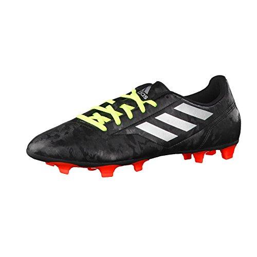 adidas Herren Fussballschuhe Conquisto II FG Core Black/Silver Met./Solar Red 48