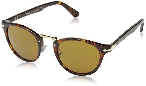 Persol Men's PO3108S Sunglasses Havana/Brown 49mm