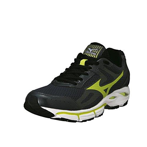 Mizuno Zapato de Running Para Hombre 2 Resolute Wave Sport 2014, Color Verde y Negro Grigio Verde Lime Nero