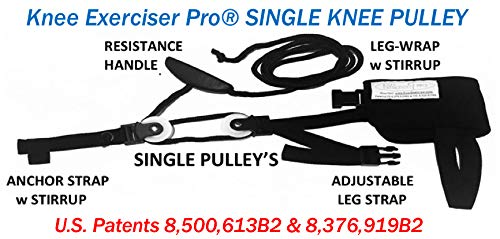 Knee Exerciser Pro-Single Knee Pulley: Knee Replacement Therapy - Knee Replacement - Range of Motion Aide.