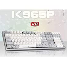 ABKO K965P V2 55g Capacitance Non-Contact Switch Keyboard Nkey-Rollover, Stabilizer, Waterproof, Cherry MX Profile, PBT KeyCap (English/Korean Layout)