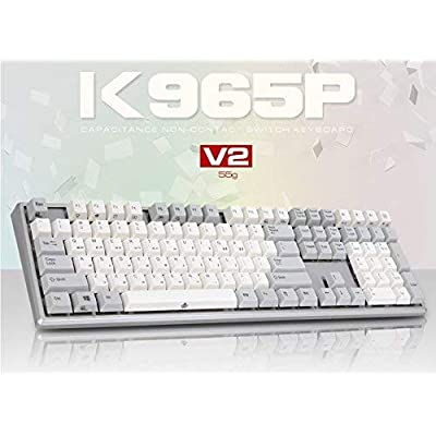 Image of ABKO K965P V2 55g Capacitance Non-Contact Switch Keyboard Nkey-Rollover, Stabilizer, Waterproof, Cherry MX Profile, PBT KeyCap (English/Korean Layout) Keyboards