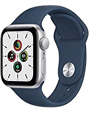 $269 » Apple Watch SE (GPS, 40mm) - Silver Aluminum Case with Abyss Blue Sport Band
