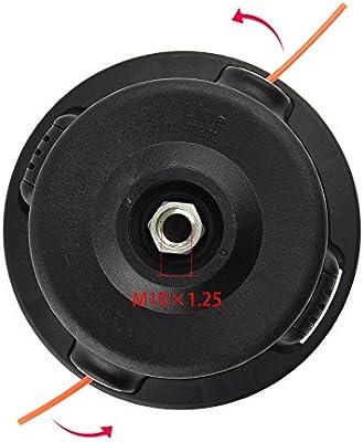 FEPITO - Cabezal desbrozadora Universal M10 x 1.25 Hilo Carga ...