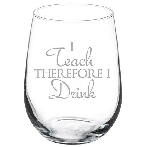 Stemless Glass Teacher Professor therefore product image