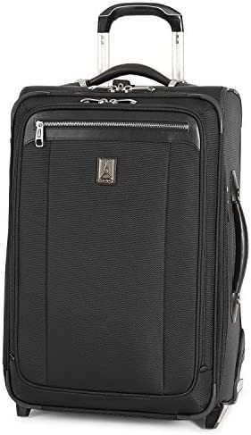 Travelpro Platinum Magna 2-Softside Expandable Upright Luggage, Black, Carry-On 22-Inch