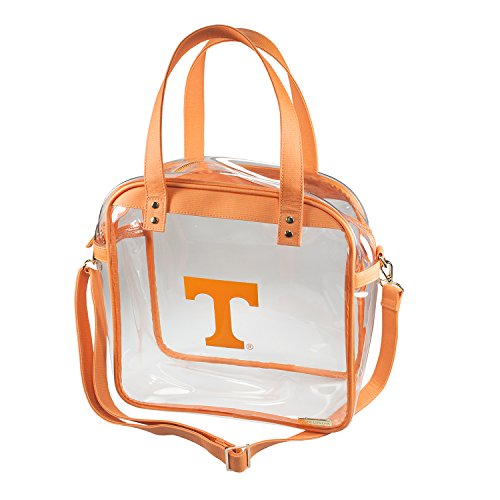 University of Tennessee Volunteers Capri Designs Clearly Fashion Licensed Clear Carryall Tote Meets Stadium Requirements by CLEARLY FASHION