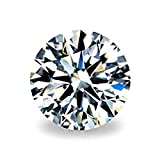 SuperShineGems 2.00Cts Moissanite DEF Colorless Simulated Diamond Loose Stone, Round Brilliant Cut VVS Clarity 8.00MM