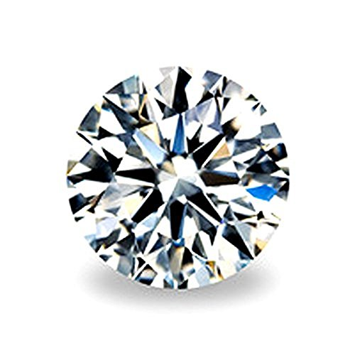(SuperShineGems 2.00Cts Moissanite DEF Colorless Simulated Diamond Loose Stone, Round Brilliant Cut VVS Clarity 8.00MM)
