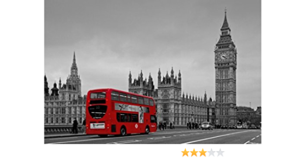 Black And White London With Red Bus Canvas Wall Art For Home And Office Decorations 12 X 16 Amazon Ca Home Kitchen