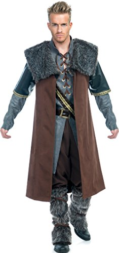 Charades Men's Medieval Warrior Costume, Gold X-Large -
