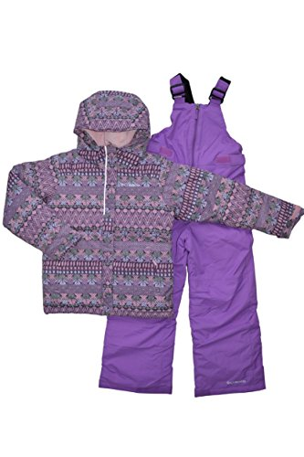 Columbia Girl's Horizon Ride 2-Piece Waterproof Bib Ski Snowsuit (M (10-12)) by Kids Columbia