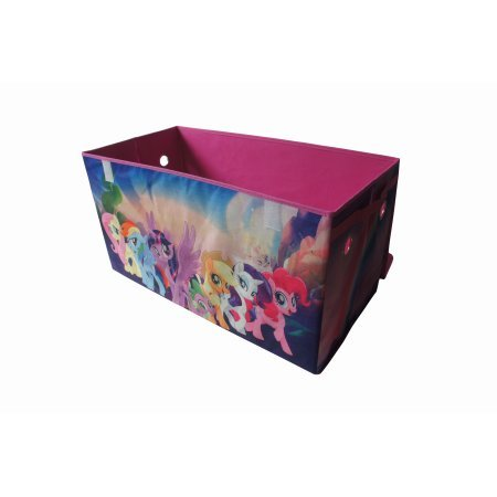 Your Child Will Love to Put Away Toys,Clothes,Books and More With My Little Pony Movie Oversized Collapsible Storage Trunk,Great Addition to Childs Room,Play Room,Living Room or Basement