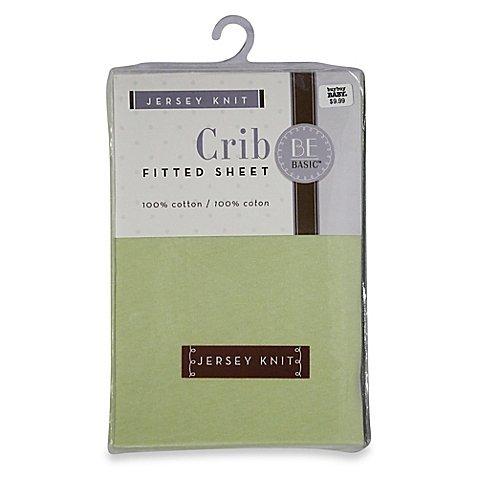 BE Basic™ Bambino Basics Jersey Knit Crib Sheet in Green