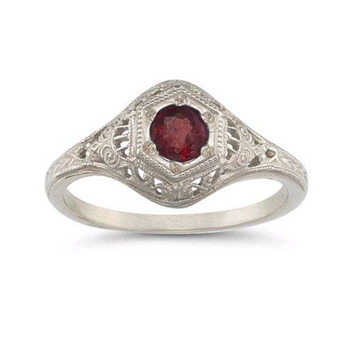 Enchanted Garnet Ring in .925 Sterling ()
