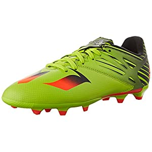 Adidas Performance Messi 15.3 J Soccer Cleat (Little Kid/Big Kid), Semi Solar Slime/Solar Red/Black, 1 M US Little Kid
