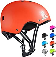 OMID Kids/Adult Bike Helmet Adjustable CPSC Certified Skateboard Helmet with Removable Liner