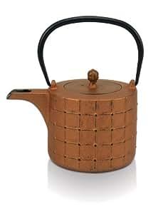 Beka Shang - Tetera de hierro fundido, color bronce