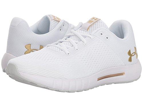 シーケンス祈る石鹸(アンダーアーマー) UNDER ARMOUR レディースランニングシューズ?スニーカー?靴 UA Micro G Pursuit White/Elemental/Metallic Gold 9 (26cm) B - Medium