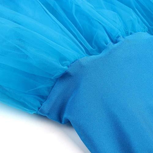LULIKA Femmes Jupe Haute Adulte Danse Courte Jupe Pliss Taille Tutu Bleu Womens Qualit Ciel Haute ffqdrUw