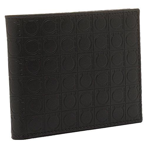 (フェラガモ) Salvatore Ferragamo 財布 メンズ 669407 0568274 GAMMA 2つ折り財布 DEEP BLACK[並行輸入品] B00M8306GK