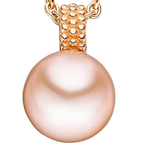 JOBO pendentif en or rose 585 sertie d'une perle de 1 goldanhänger rose plaqué