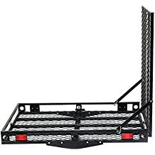Goplus Folding Hitch Carrier Wheelchair Mobility Scooter Loading Ramp, 500 Lbs Capacity