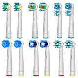 AGPtEK® Oral B Compatible Replacement Electric Tooth Brush Head - Pack of 12 Assorted Heads, Special with 6 PCS Different Design Shape Model