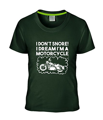 Price comparison product image Beatles Rock Women's T-shirt Geek Don't Snore I Dream I'm a Motorcycle Biker tees deepGreen