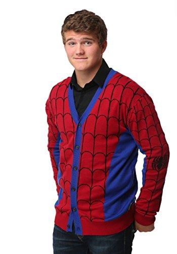 Mighty Fine mens Spiderman Mens Cardigan 3X