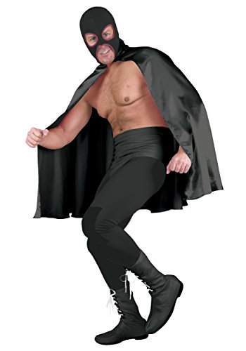Deluxe Black Superhero Cape Standard ()