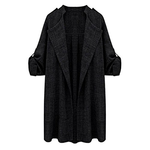 Womens Jackets Open Front Trench Coat Long Cloak Overcoat Waterfall Cardigan by TOPUNDER (Long Beach Outlet)