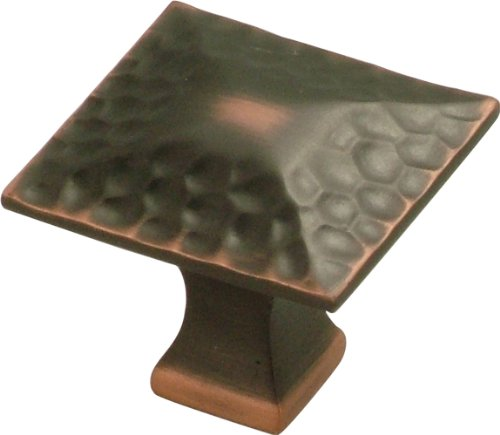 Hickory Hardware P2172-OBH 1-1/4-Inch Craftsman Knob Square, Oil-Rubbed Bronze Highlighted ()