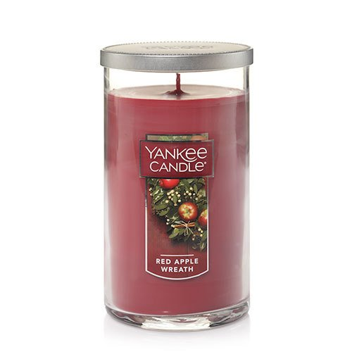 Medium Scented Jar (Yankee Candle Medium Perfect Pillar Candle, Red Apple Wreath)