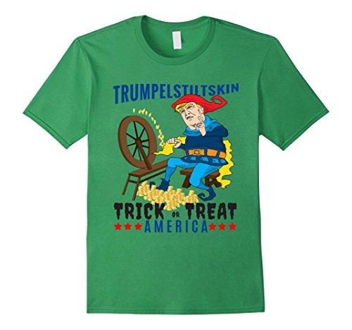 Mens Trumpelstiltskin Trick or Treat America Donald Trump T-shirt Small Grass (Rumpelstiltskin Costume)