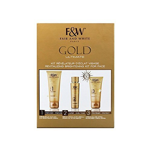 Fair & White Gold Ultimate Revitalizing Brightening Kit For Face by F & - Mall Olive Branch