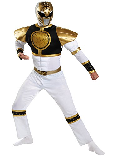 Adult Power Ranger's White Ranger Classis Muscle -