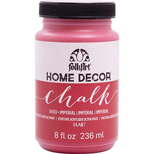FolkArt Home Decor Chalk Furniture & Craft Paint in Assorted Colors (8 Ounce), 34153 - Imperial Finish Red