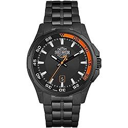 Harley-Davidson Men's Dashboard Bar & Shield Watch, Black Stainless Steel 78B141