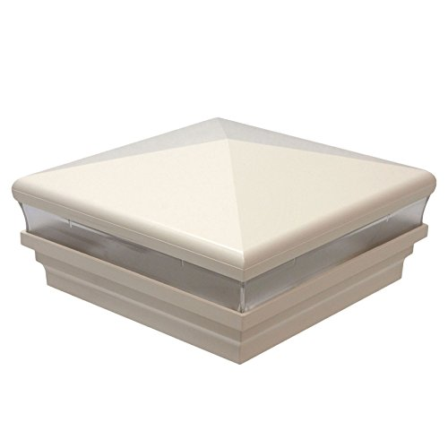 America's Fence Store 5'' x 5'' Beige Neptune Low Voltage LED Light Post Cap - 6 Pack by LMT Mercer Group, Inc