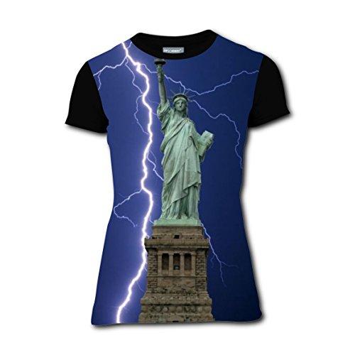 T-shirts Tee Shirt for Women Tops Costume Statue Liberty Lightning Thunder (Statue Of Liberty Costume Ideas)