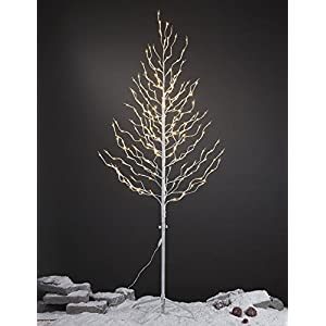 Lightshare Starlit Tree, Star Light Tree, White Finish, Warm White Lights 77