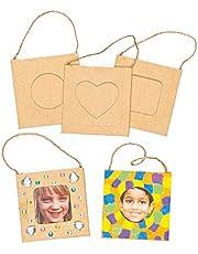 Baker Ross Ontwerp je eigen hangende fotolijsten (Pack van 12) voor kinderen om te versieren en weer te geven