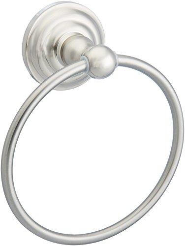 (AmazonBasics Traditional HandTowel Ring, Satin Nickel)