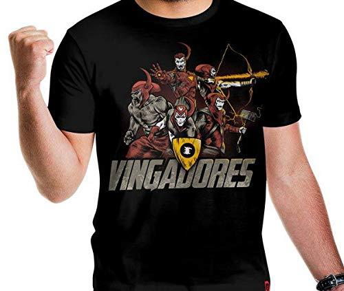 Camiseta Vingadores Cor:preto;tamanho:m