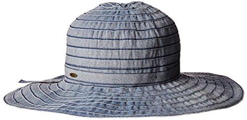 scala-womens-sewn-ribbon-crusher-hat-denim-one-size