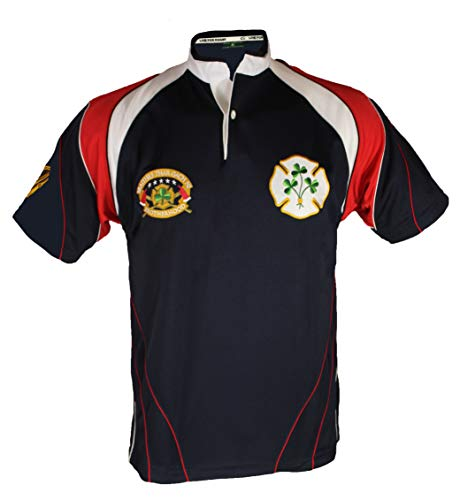 - Silky Sullivan Rugby Collection Men's Irish American Firefighter Rugby Jersey (XXL)