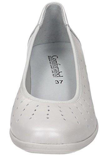 slipper Damen Comfortabel 942188 3 White Weiß q7U5UZH